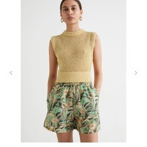 & Other Stories Floaty Floral Print Shorts